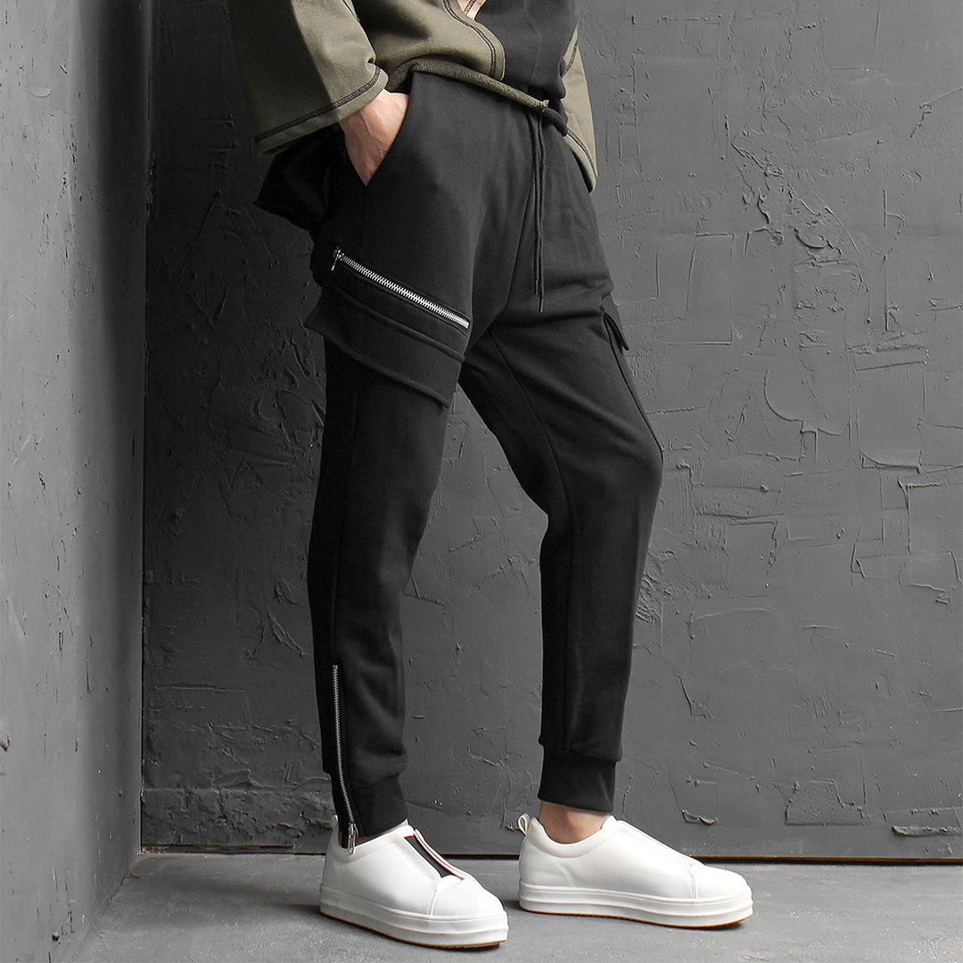 Unbalanced Cargo Pocket Jogger Pants 178