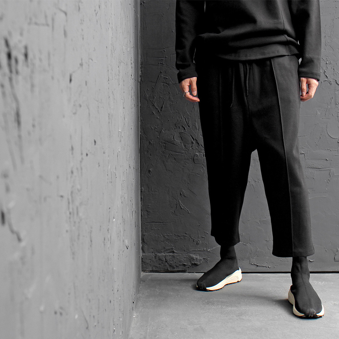 Drop Crotch 4/5 Length Wide Sweatpants 182