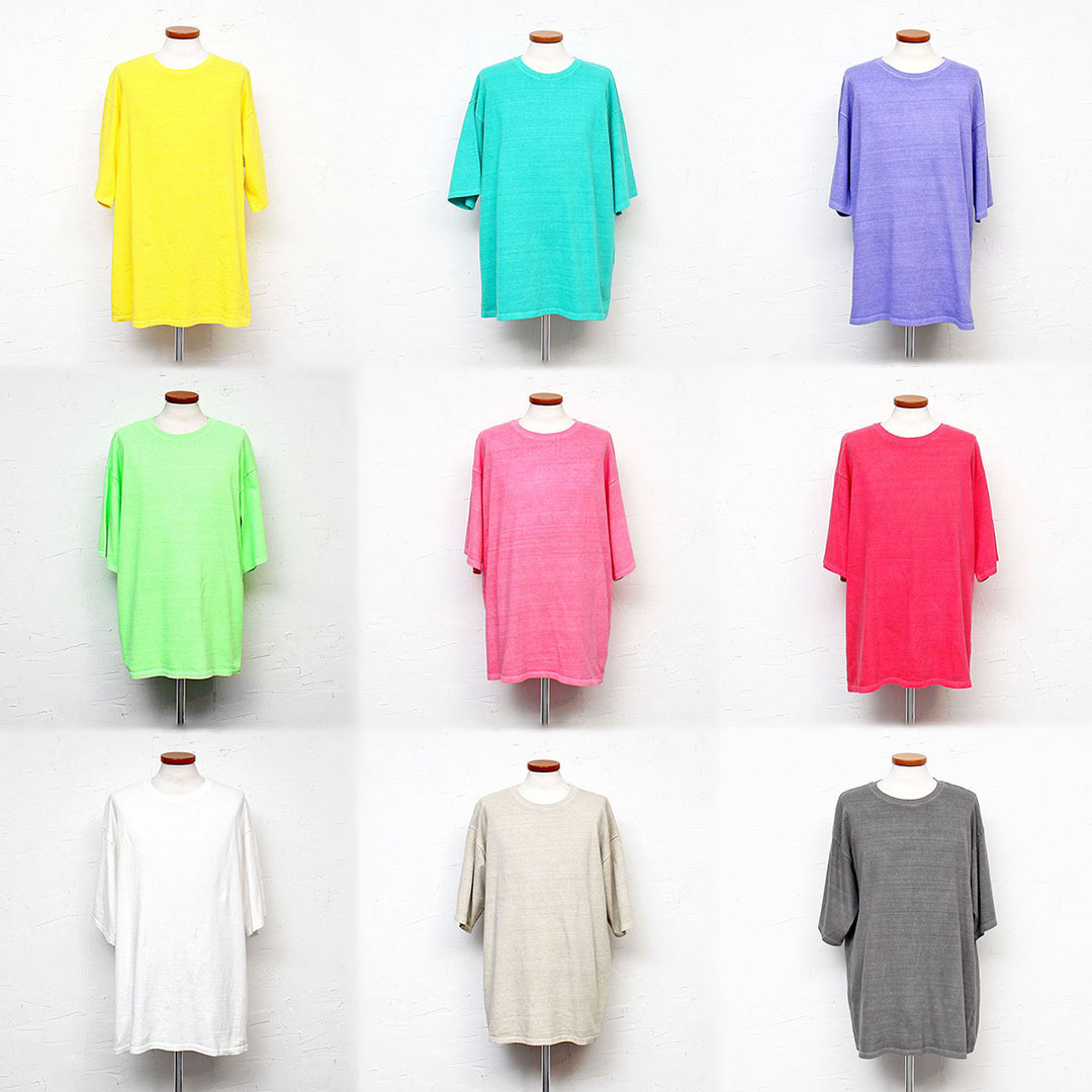 Loose Fit Vintage Pigment Washing Short Sleeve Tee 373