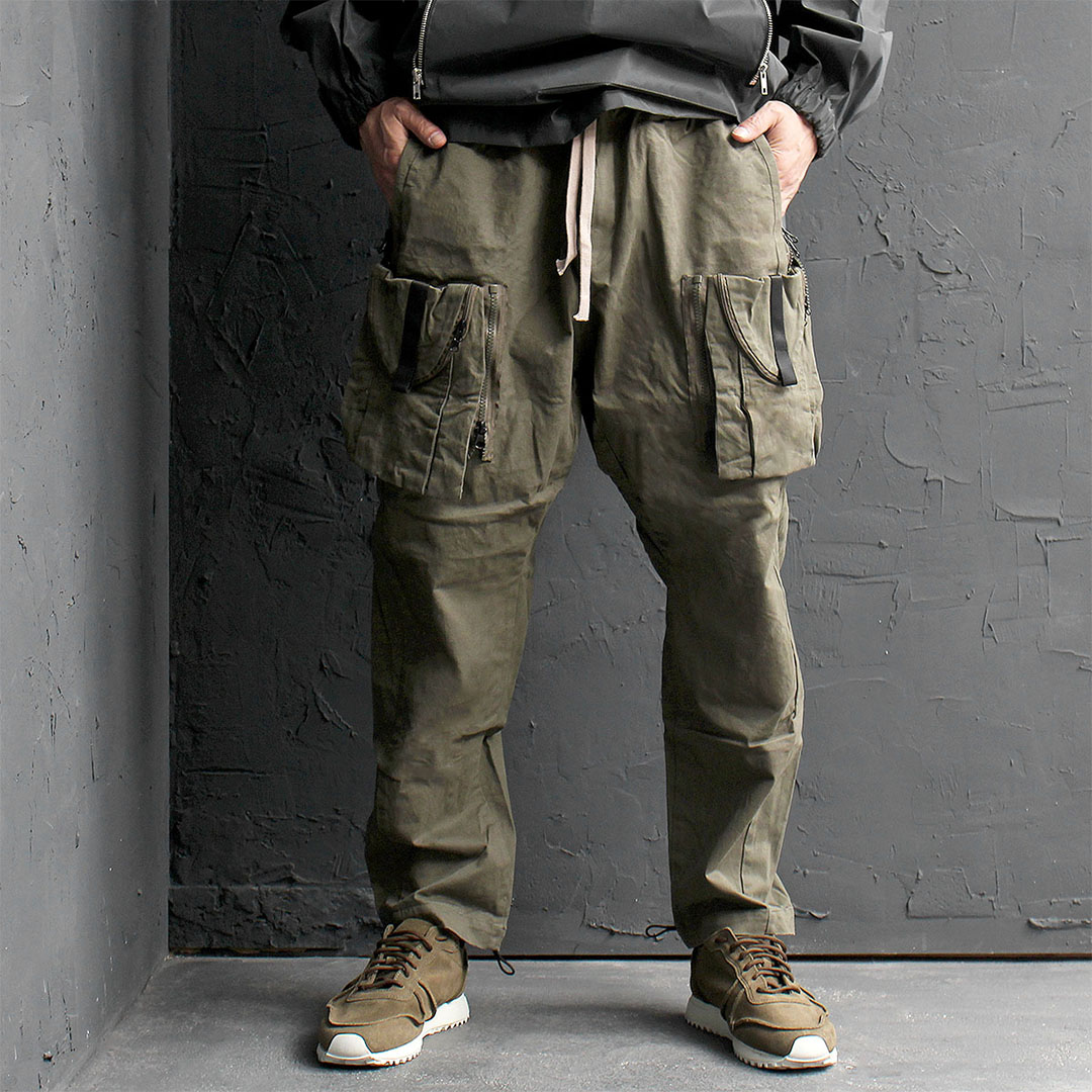 Techwhear Zipper Cargo Pocket Baggy Pants 558