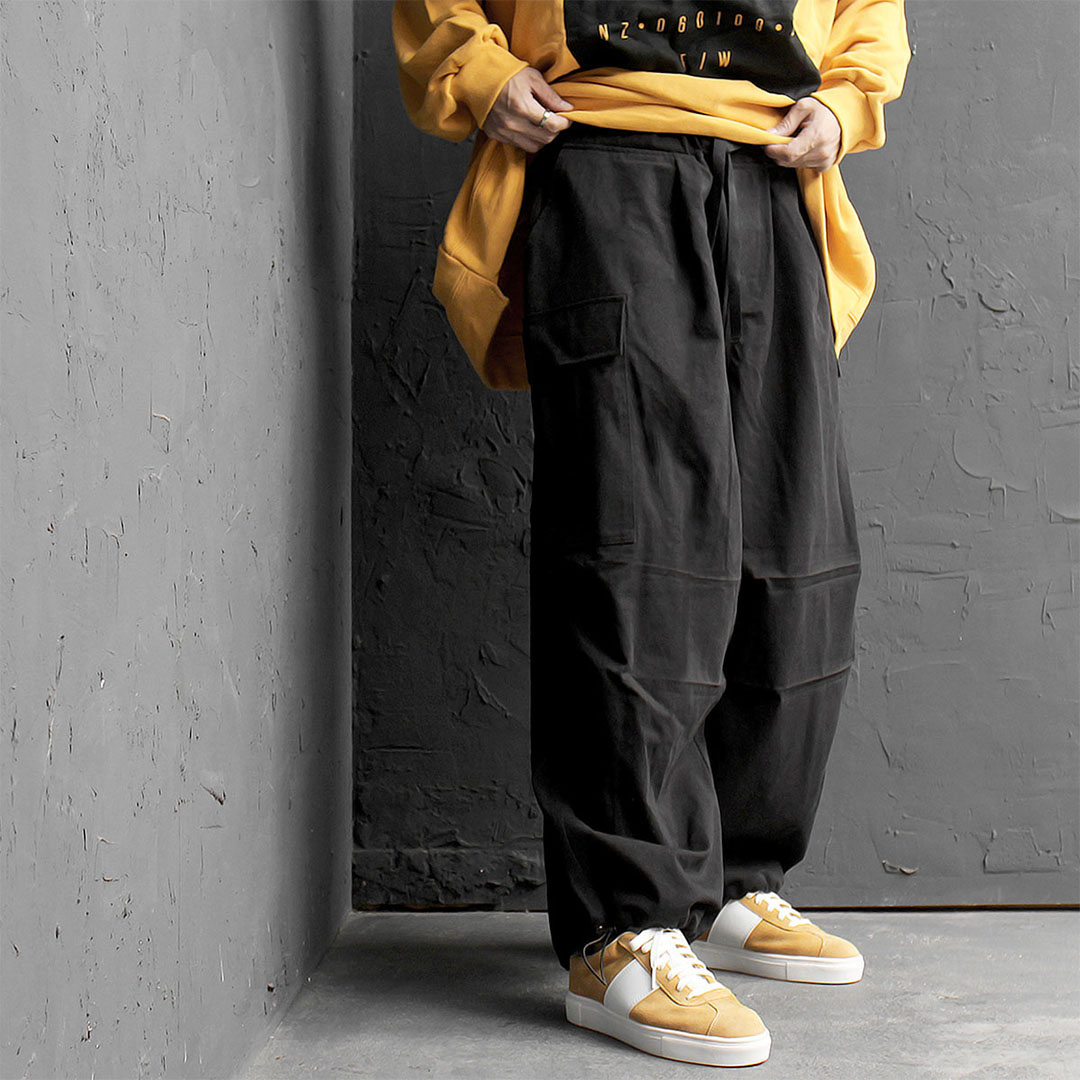 Oversized Loose Fit Big Cargo Pocket Wide Pants 581