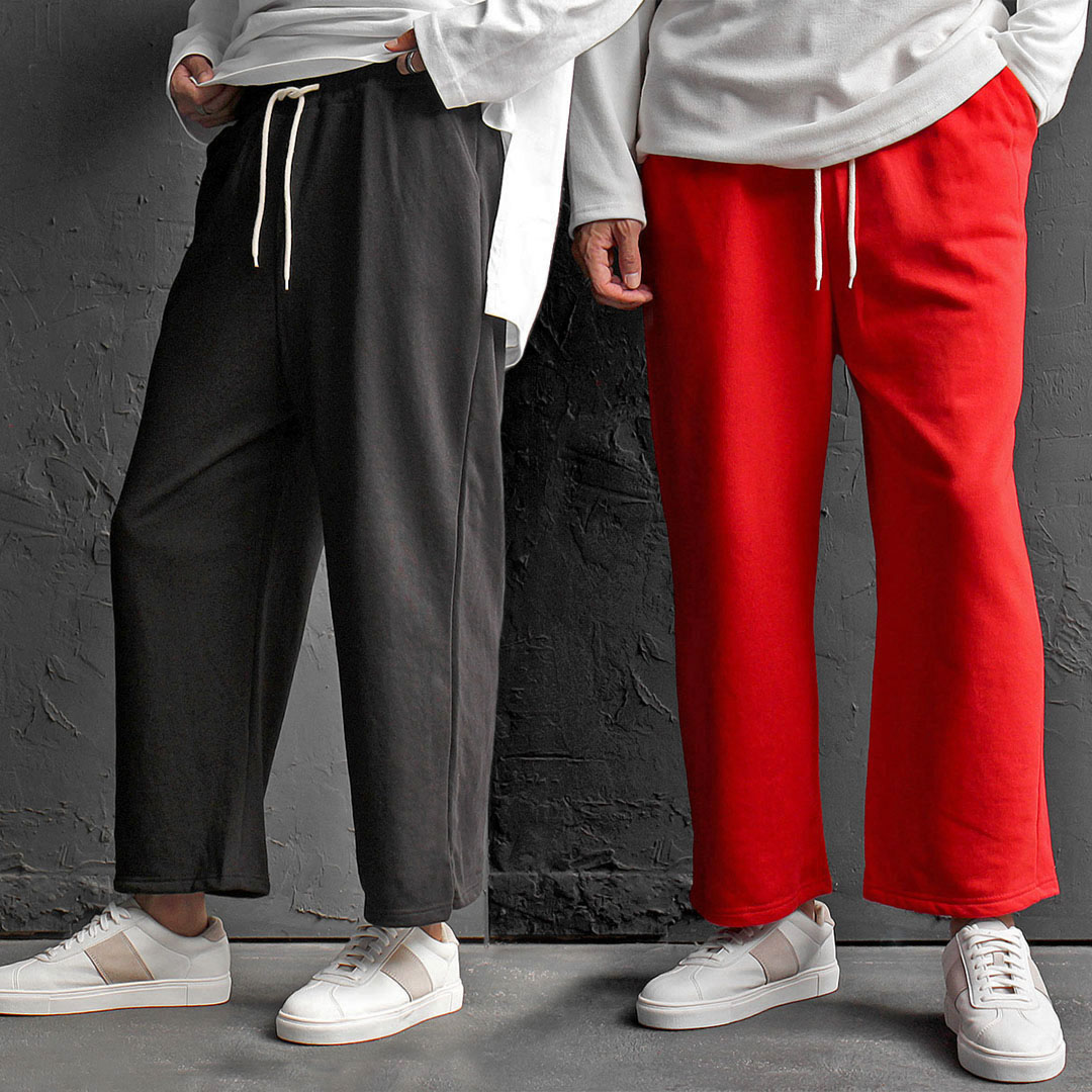 Loose Fit Wide Sweatpants 605