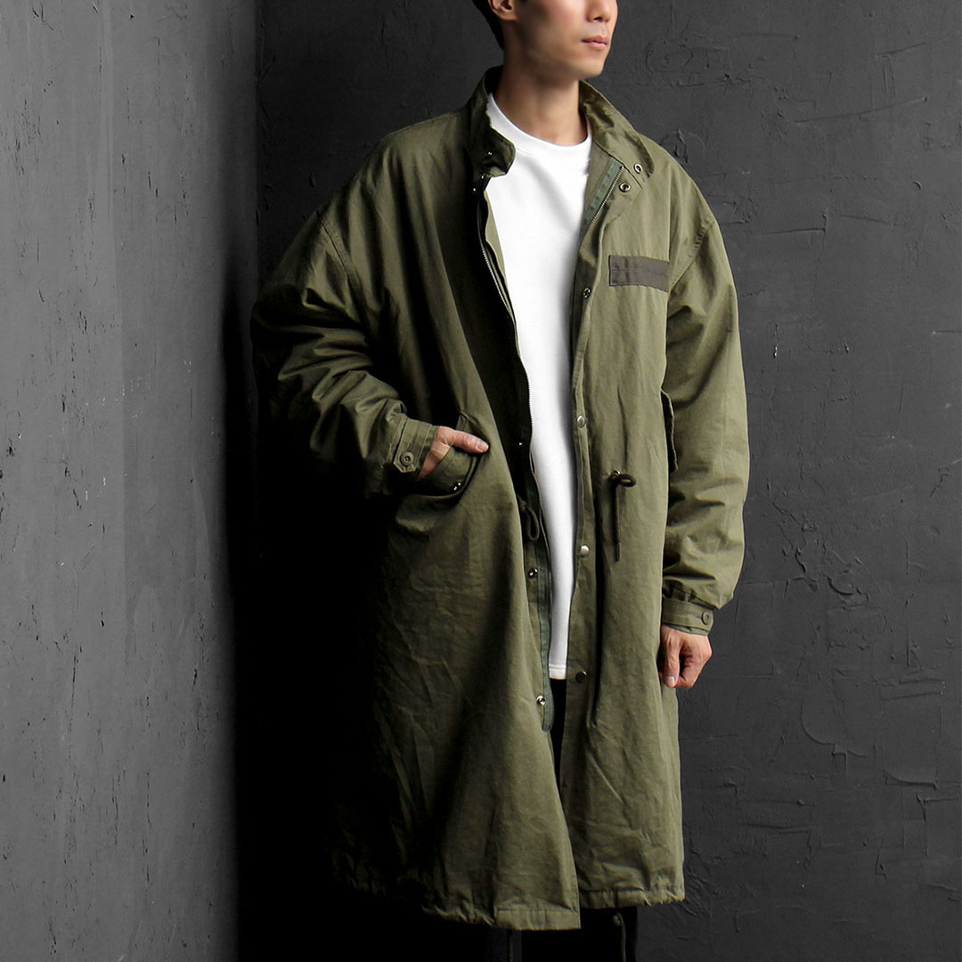 Vintage Military Long Zip Up Coat 783