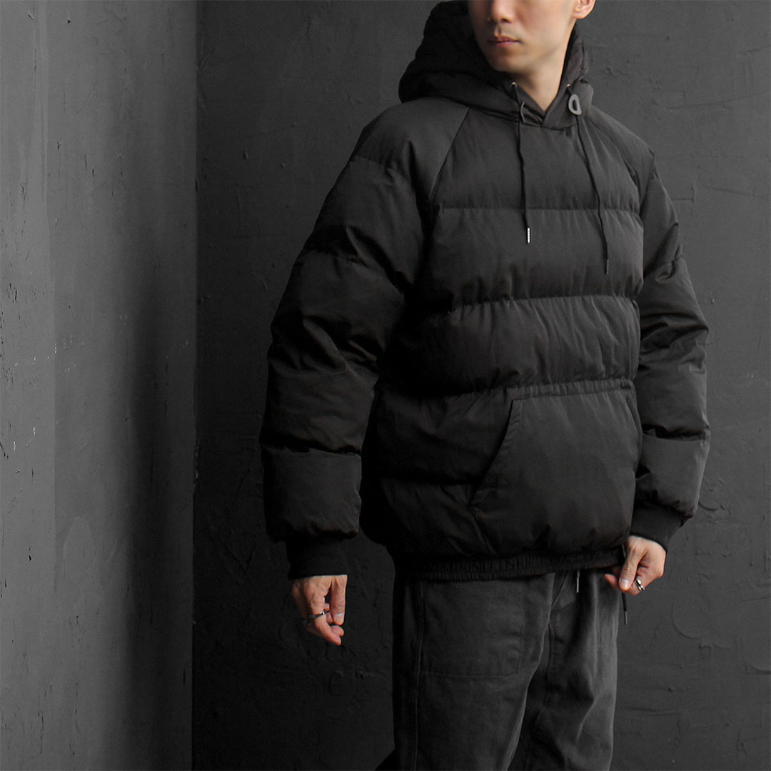 Black Wellon Insulation Padded Puffa Hoodie 806