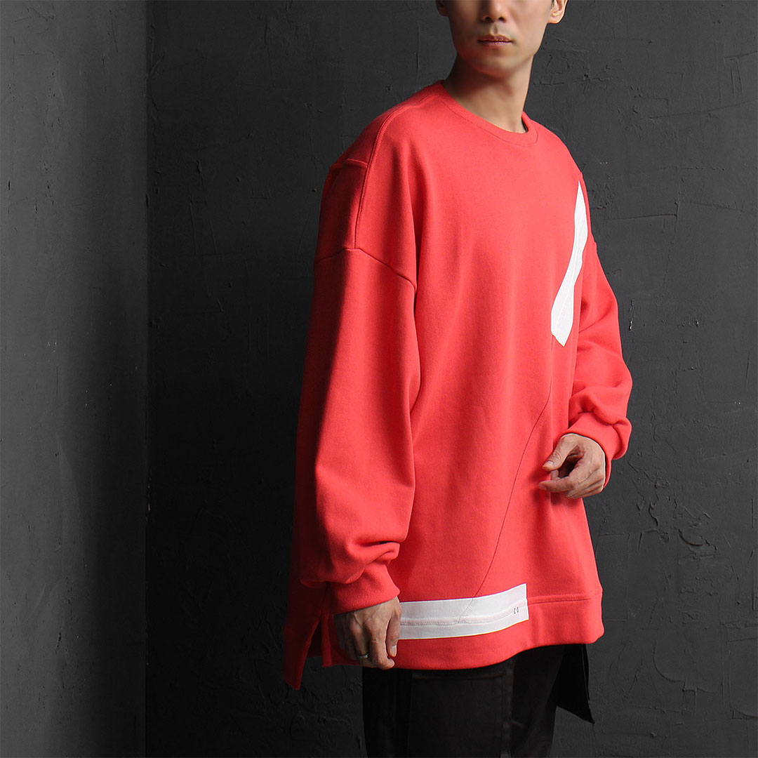 Oversized Fit Unbalanced Hem Split Side Sweatshirt 829