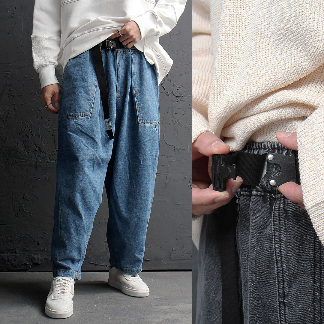 Oversized Wide Denim Balloon Baggy Pants 852