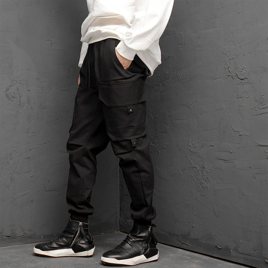 Unbalanced Cargo Pocket Joggers 879
