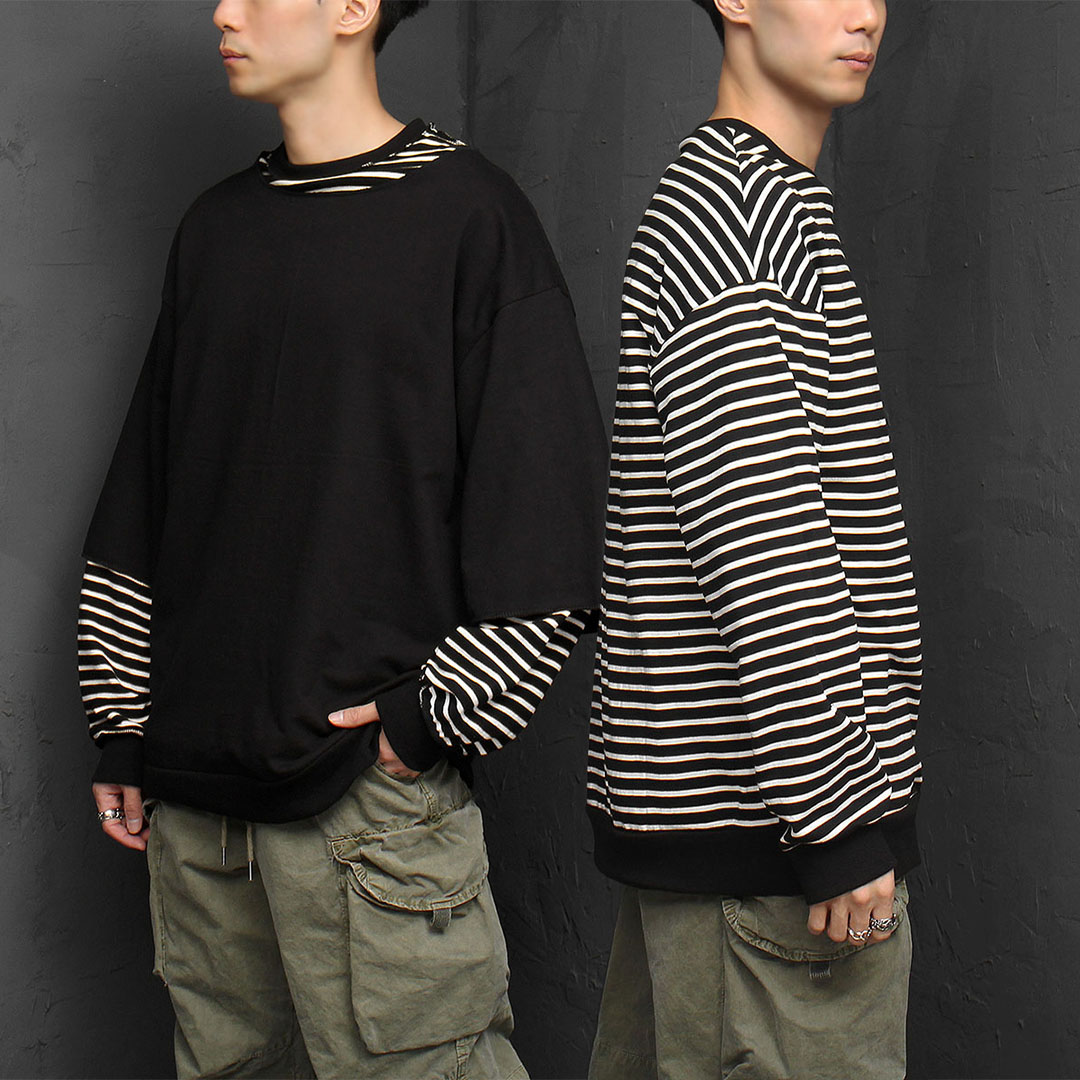 2 in 1 Reversible Stripe Sweatshirt 892