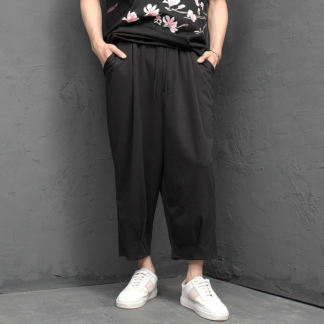 Oversized Loose Fit Stretchable Wide Pants 992