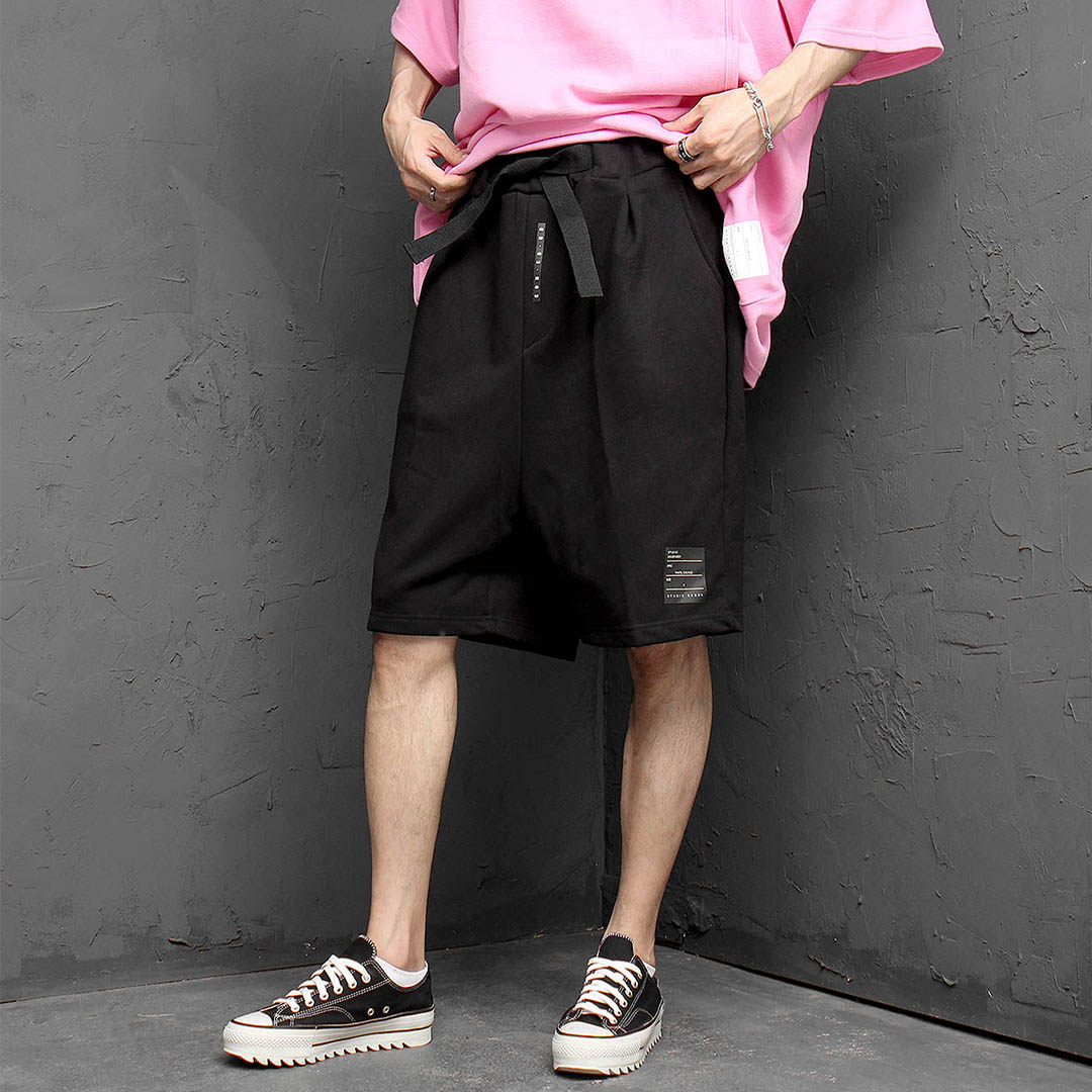 Webbing Strap Short Sweatpants 1149