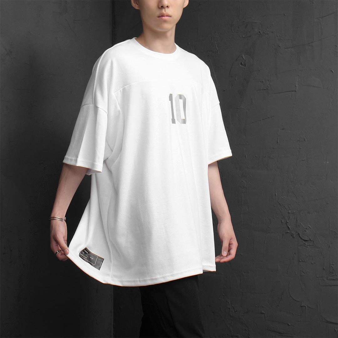 Over sized Fit 10 Gravity Printing Tee 1244