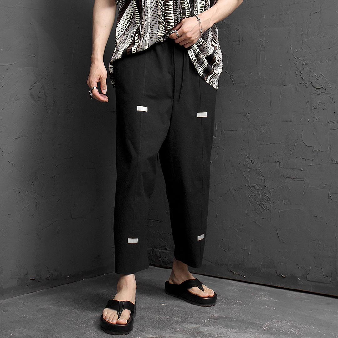 Oversized Loose Fit Stretchable Wide Linen Pants 1276