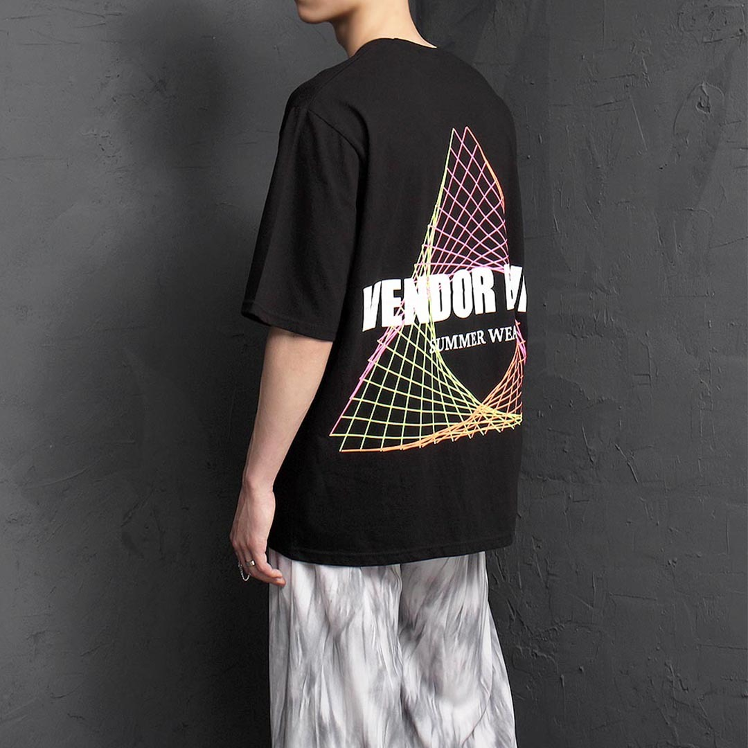 Loose Fit Graphic Printing Short Sleeve Tee 1320