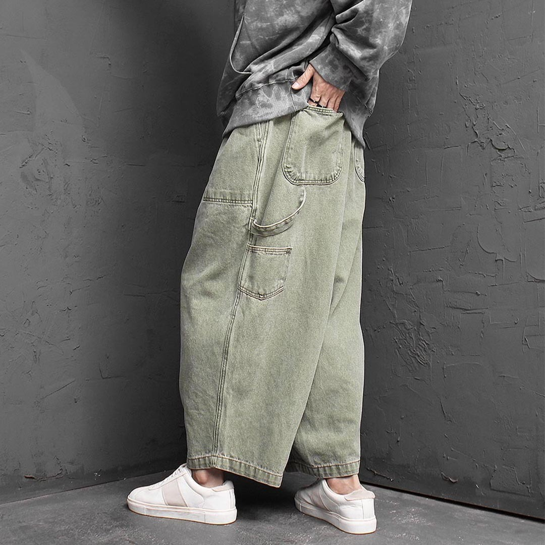 Vintage Pigment Washed Work Balloon Pants 1410