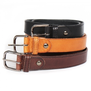 Casual Stitching Style Adustable Color Leather Belt