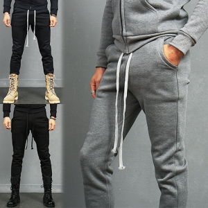 Stretchable Waist Long Strap Slim Jogger Sweatpants