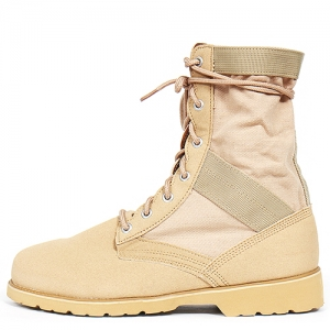 Light Weight Beige Military Desert High Top Boots