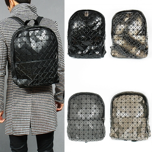 Triangle Mosaic Patched Backpack