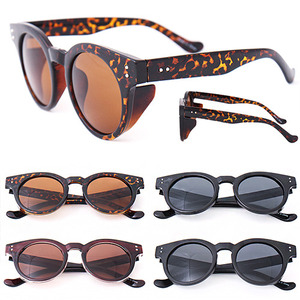 Round Frame Side Cover Fashion Color Sunglasses - 1113