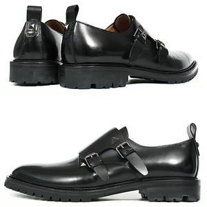 Handmade Double Monk Strap Studded Oxfords 4082