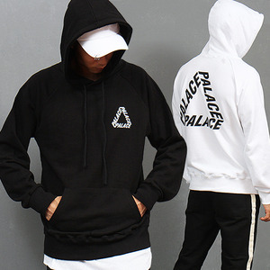 Triangle Logo Statement Hood Sweatshirt