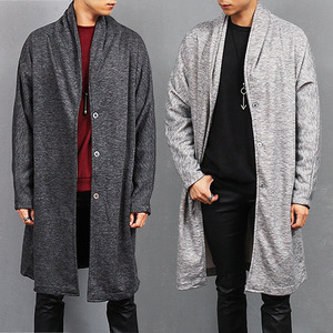 Loose Fit Shawl Collar Long Cardigan