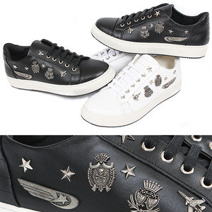 Wappen Studded Leather Sneakers 023