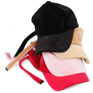 Synthetic Velvet Long Strap Ball Cap