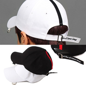 Buckle Ring Statement Stitched Strap Ball Cap