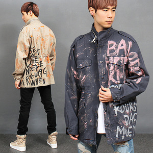 Heavy Painted Printing Military Jacket