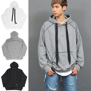 Big Over Loose Fit Long Strap Boxy Hoodie
