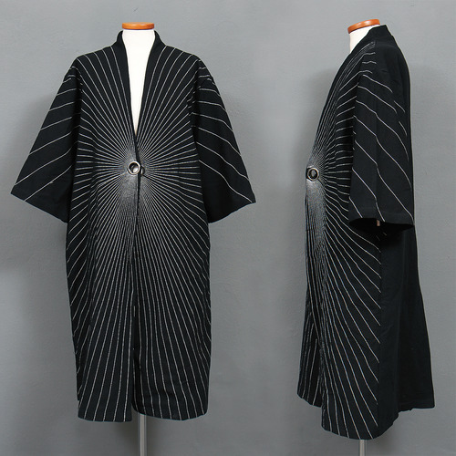 Spider Web Stitch 3/4 Sleeve Linen Coat