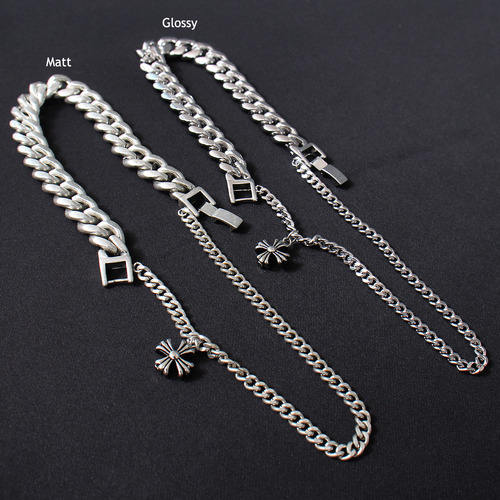 Double Chain Cross Pendant Bracelet B211