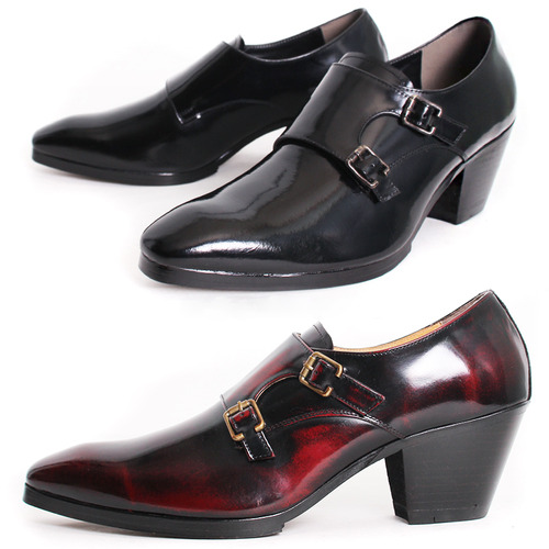 High Heel 7Cm Monk Strap Classic Handmade shoes 5083