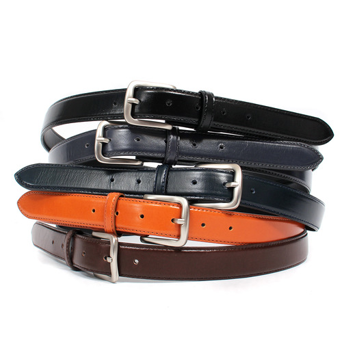 Silver Buckle Color Leather Belt 5 Colors