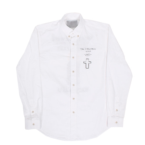 Statement Tiger Maria Stitch White Slim Shirt