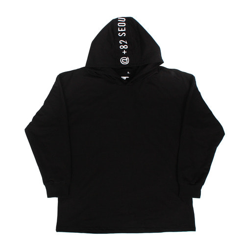 Back Contrast Logo Stitched Hoodie