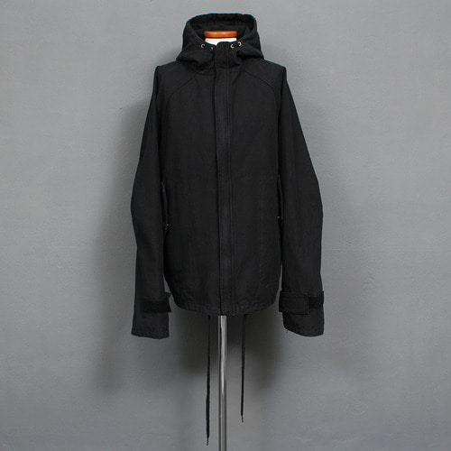 Loose Fit Over Long Sleeve Boxy Hooded Jacket