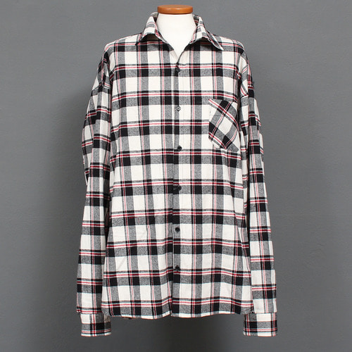 Over Loose Fit Checkered Pattern Shirt