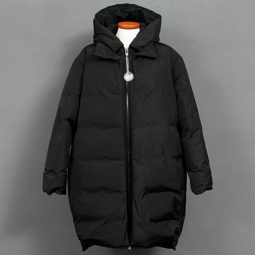 Avant garde Layered Styling Duck Down Hooded Parka