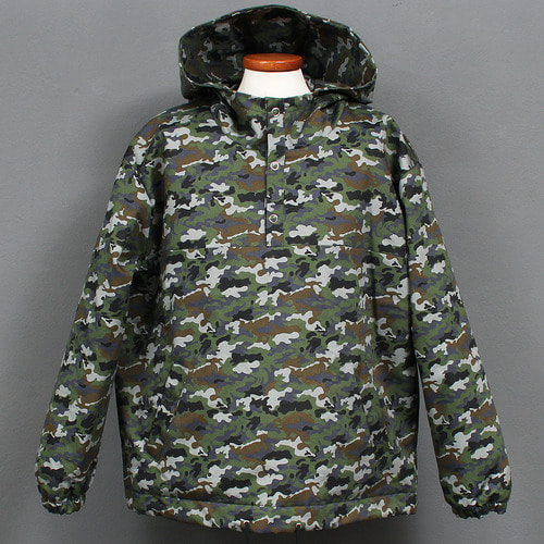 Military Camouflage Cotton Insulation Anorak Hoodie 681