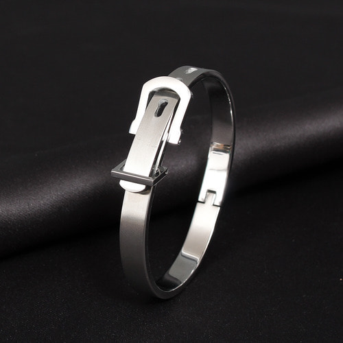 Belt Shaped Surgical Stainless Steel Bracelet B217