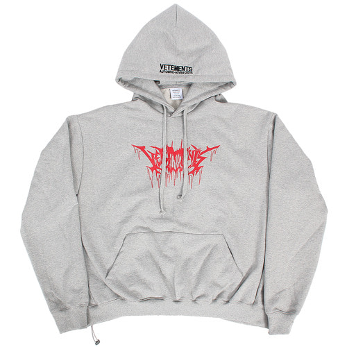Logo Stitched Graphic Printing Boxy Hoodie