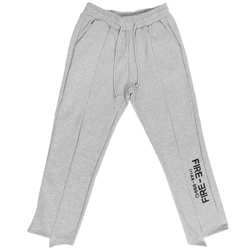 Unbalanced Cut Hem Graphic Printing Sweatpants