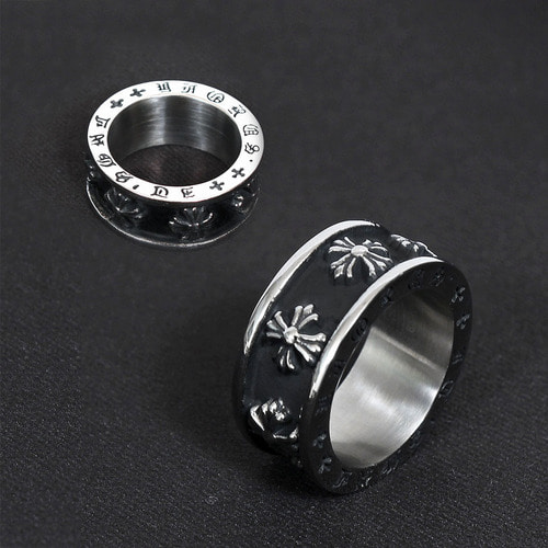 Sentence Lettering Engraved Surgical Stainless Steel Ring R36