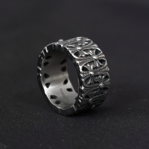 Cross Engraved Surgical Stainless Steel Ring R38
