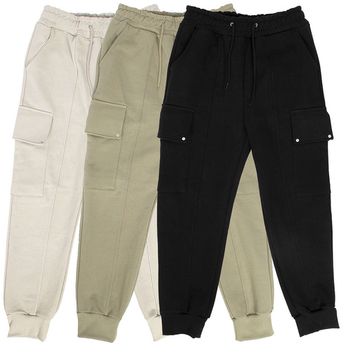 Semi Baggy Rivet Flap Cargo Pocket Jogger Pants 006
