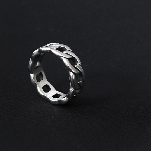 Chain Shaped Surgical Stainless Steel Ring R42