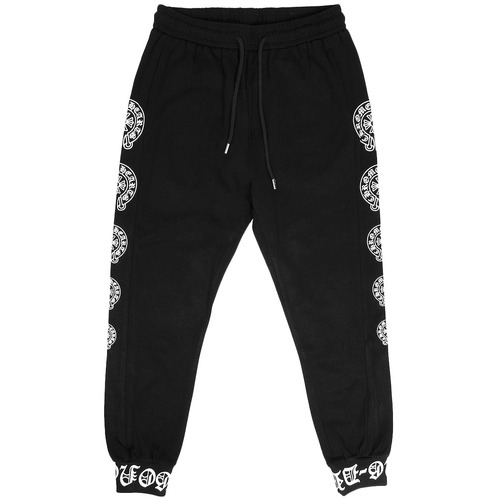 Side Cross Logo Printing Semi Baggy Jogger Pants 008