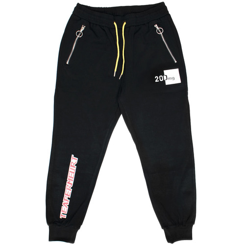 Graphic Printing Zip Pocket Semi Baggy Joggers 011